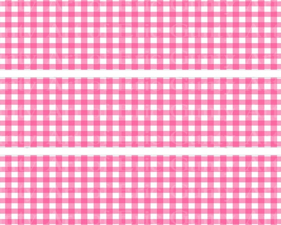 Baby Girl Pink Baby Shower Birthday - Designer Strips - Edible Cake Side Toppers- Decorate The Sides of Your Cake! - D22794
