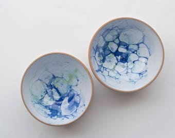 Ceramic Bowls * Handmade Ceramic Bowls * Cereal Bowls * Salad Bowls * Serving Bowls * Bubble Glaze