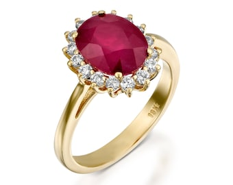 diamond ring with ruby engagement ring ruby ring gold ruby engagement ring - Ruby Wedding Rings