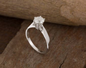 1 carat Solitaire ring -ON SALE!! -Diamond Engagement Ring-Diamond Solitaire Ring-Gold Ring-Women Jewelry-Promise ring-Art deco ring-For her
