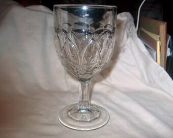 Vintage Pressed Glass Goblet