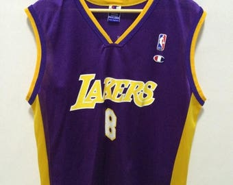 ad7cf7459fb ... MEGA SALE 25% Kobe Bryant Jersey Vintage Champion Los Angeles Lakers  Jersey NBA Basketball Jersey ...