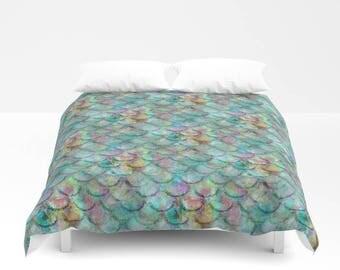 Mermaid Duvet Cover, Comforter Cover, Twin Queen King, Mermaid Bedding