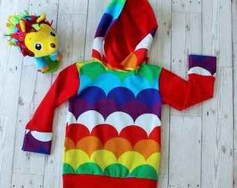 Hooded Top....Rainbow Colours