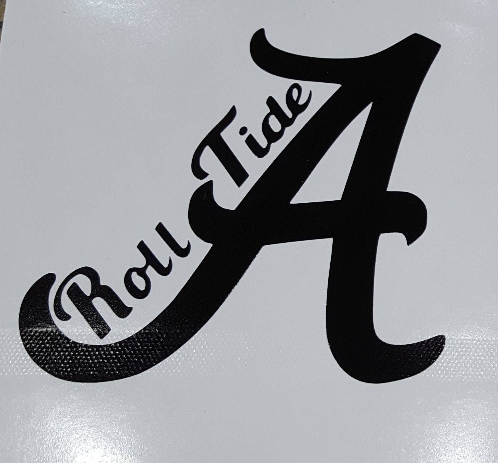 Alabama decal football decal roll tide decals alabama for Alabama football mural