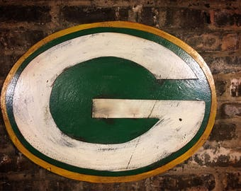 Green Bay, Green Bay Packers, Packers, Green Bay Football, Vintage Sign, Vintage Packers, Wisconsin, wooden signs, Football