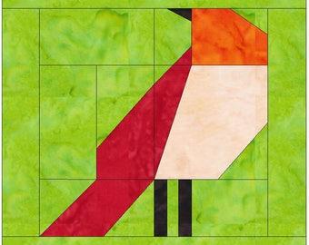 Bird  2- 10 Inch Paper Piece Foundation Quilting Block Pattern PDF
