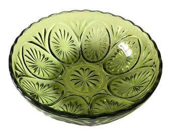 Vintage Smith Green Glass Bowl
