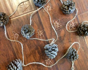Pinecone & Star Garland