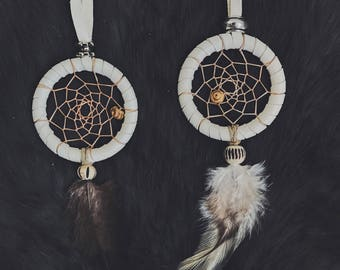 """1"""" white dreamcatcher - buy one or both for a discount - FREE US SHIPPING!"""