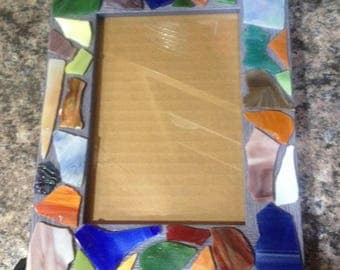 Hand Crafted 5 X 7 Mosaic Glass Frame
