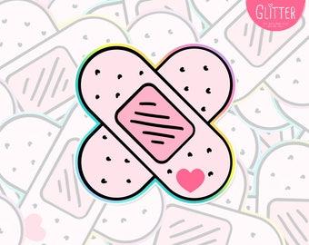 Kawaii Plaster Holographic Sticker