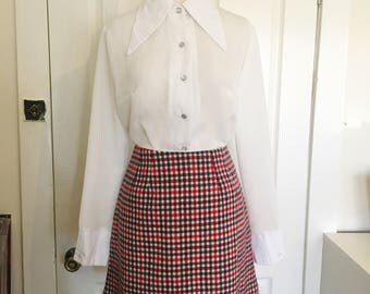 CLOSET MOD Winter Wool Mini Skirt
