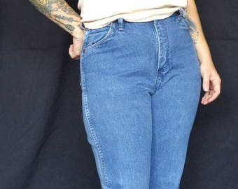 Vintage Wranglers High Waisted Denim Straight Leg Jeans