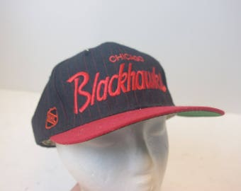 Sports Specialties Chicago Blackhawks Snapback 90s NHL Center Ice Hat cap