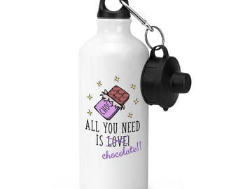 All You Need Is Love Chocolate Sports Bottle