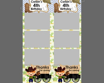 50% off,photo booth template,instant download,cowboy baby shower,cowboy birthday,thank you card,thank you note,fun playful party ideas