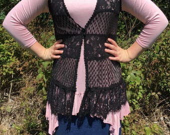 Black Lace Vest. BRAND NEW with Tags