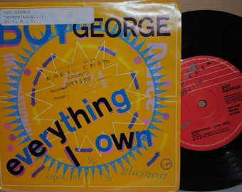 Boy George Everything I Own / Use Me 1987 Rock 45RPM Vinyl Single in Picture Sleeve