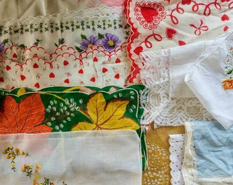 Vintage Hankys. Lot of Vintage Hankerchiefs.