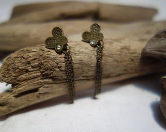 Butterfly rhinestone earrings