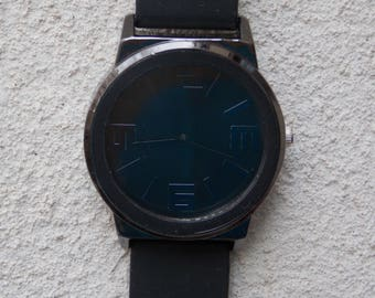 Large Black on Black Watch, Over Sized