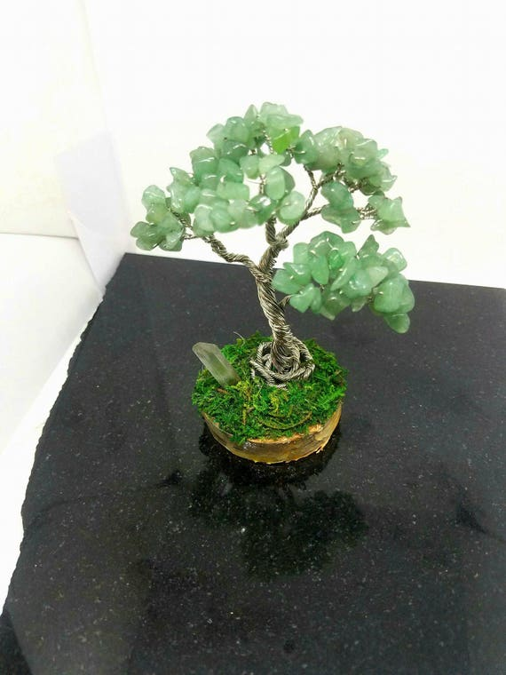 Green aventurine, Tree of Life, Wire Wrapped, Custom made, Wire Tree Sculpture , Wire Bonsai Tree, Wire Tree, Wire Sculpture