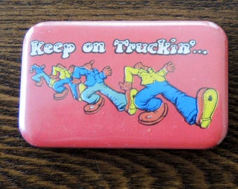 Keep on Truckin…Robert Crumb Vintage Button/Pin