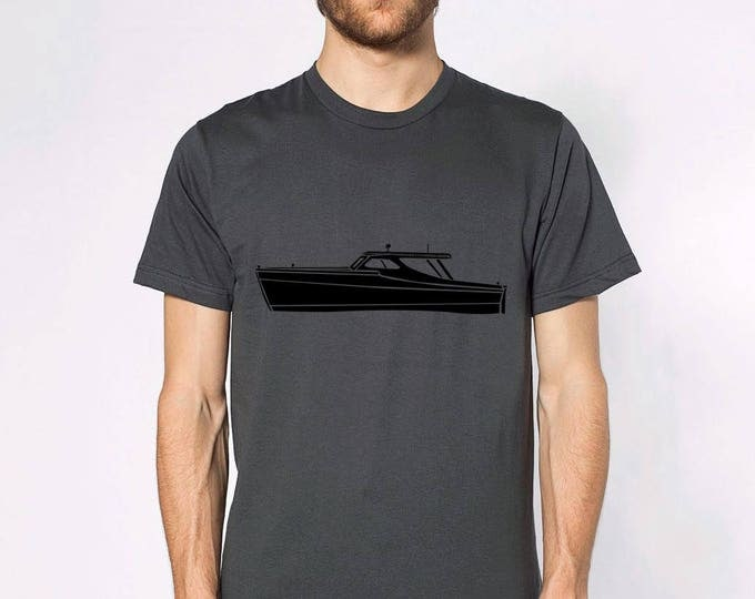 KillerBeeMoto: Vintage Fishing Boat On Short or Long Sleeve T-Shirt