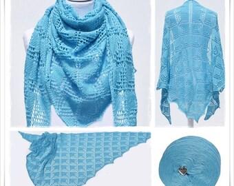 Knitting Pattern Lace Shawl Caribbean