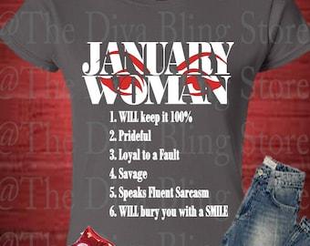 January Woman  SVG file