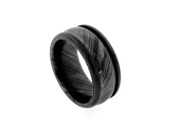 10mm Black Titanium Framed Timoku Tri-dome Band