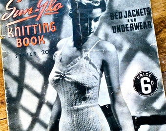 1940s knitting patterns / Vintage underwear patterns / knitting book