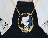 Alicorn Cameo Pendant
