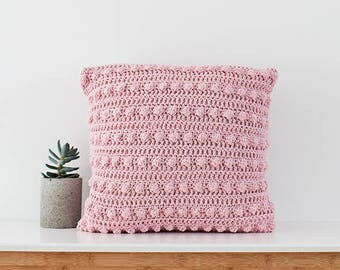 Pink Bobble pillow