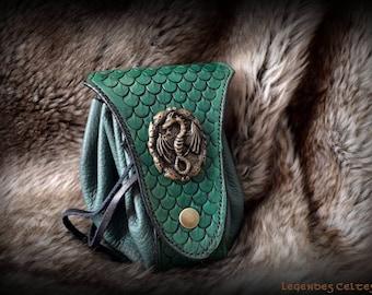 The treasure of the Dragon leather purse