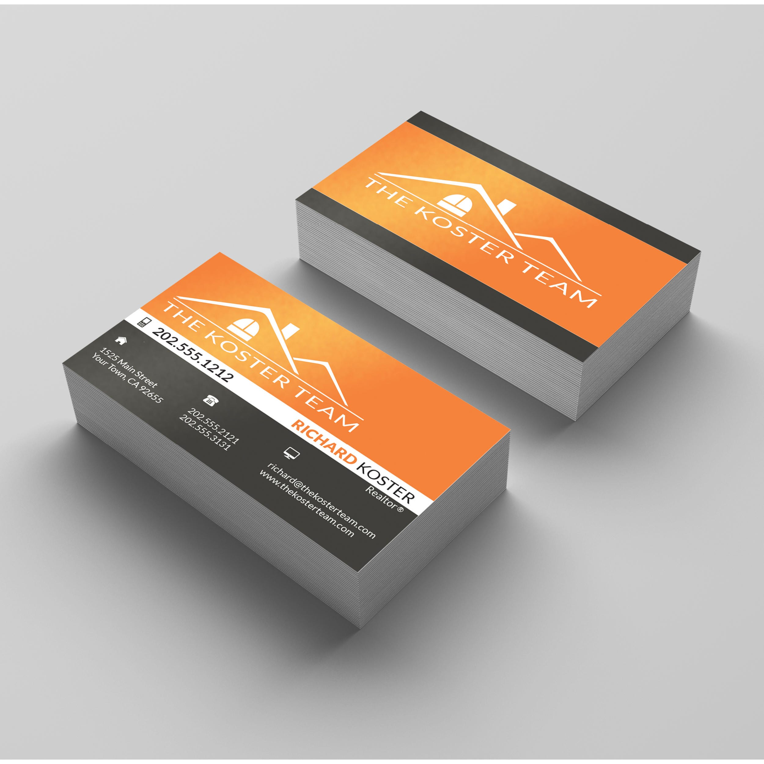 Printed cards real estate business card personalized real description printed real estate business cards magicingreecefo Gallery