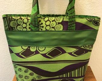 Handmade bag-Fabric tote- Small bag-medium purse-Fabric purse-Everyday bag- mini tote bag-Fabric purse-Top zipper tote