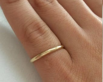 Size 7 Estate 10k Yellow Gold Wedding 2mm Band Ring 1mm 1.5mm GS1563