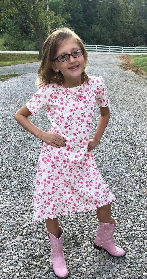 Girls knit dress,girls dress,girls pattern dress,8 patterns available,plain knit dress,flowered knit dress,mermaid knit dress,butterfly dres
