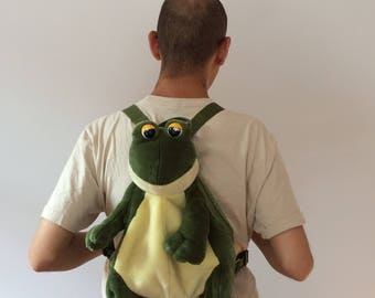 90s Backpack Frog School Bag