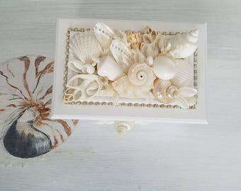 Seashell ring barrier box. wedding ring barrierbox Wedding