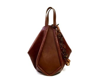 Melina Tote in Saddle Brown