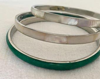 Vintage Set of 3 Bangle Bracelets