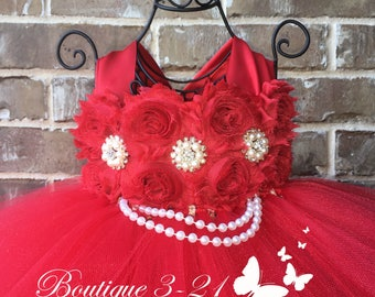 Red Dress, Red Flower Girl Dress, Red Tutu Dress, Red Flower Girl Tutu Dress, Red Dress, Red Wedding, Red Tulle Dress