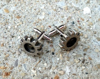 Cuff Links - Single Gear