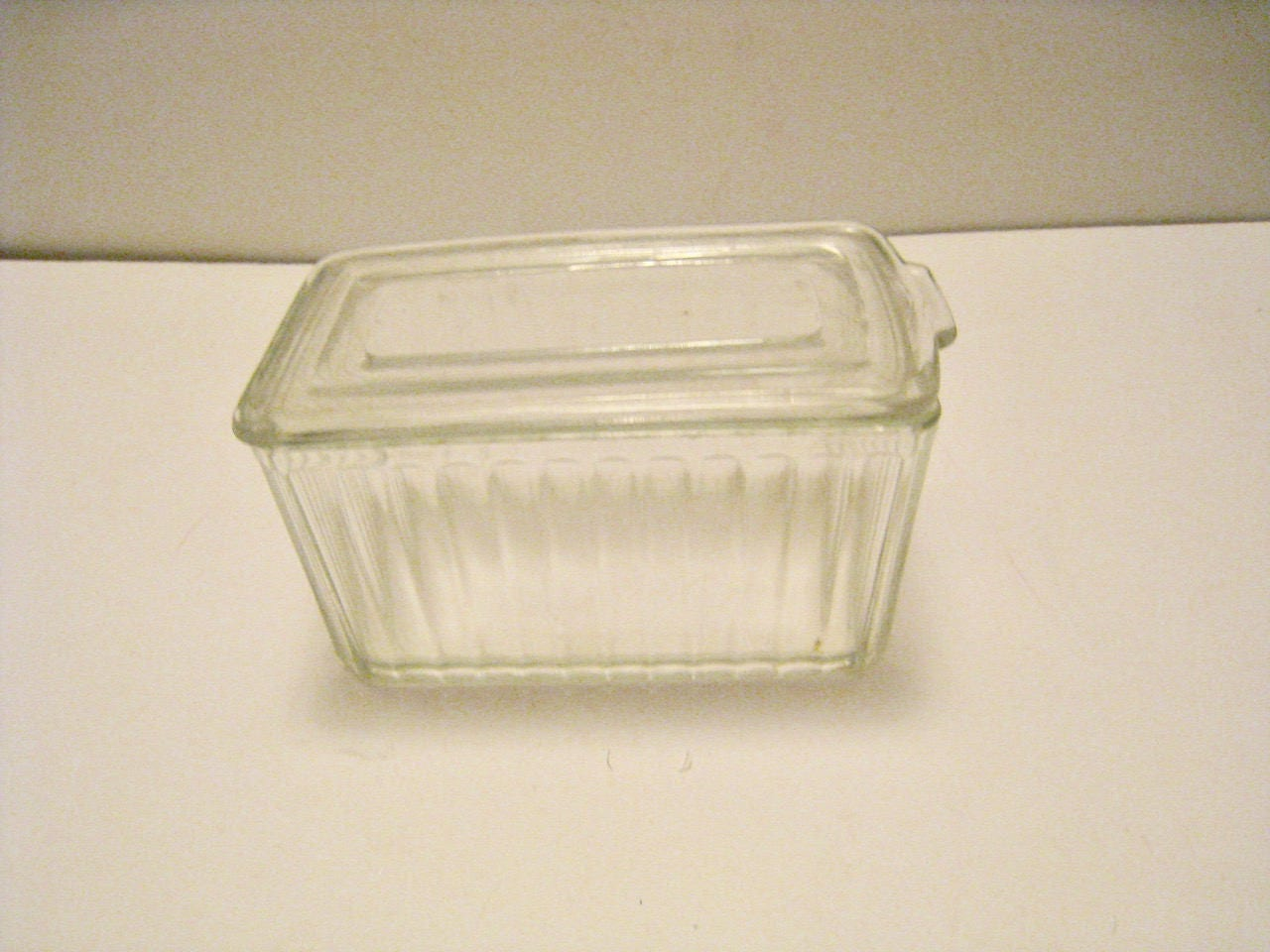 Vintage Westinghouse refrigerator dish with lid Clear glass dish