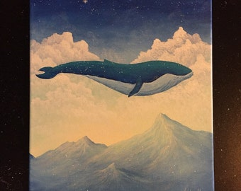 Great Blue Original Canvas Painting