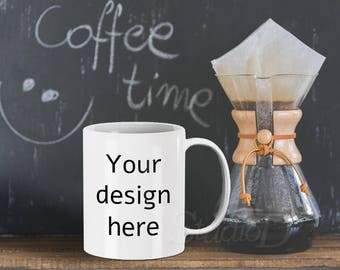 Mug mockup, White mug mockup, Coffee mug mockup, Cup mockup, Mug display mockup, Product design display, Grungy stock photography, MM001