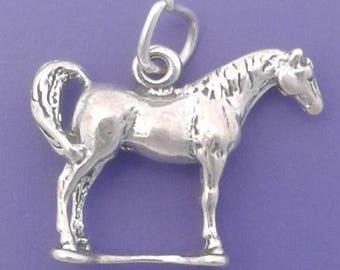 ARABIAN HORSE Charm .925 Sterling Silver Pendant - lp2516